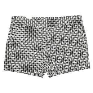 Joe Fresh Black White Print Shorts